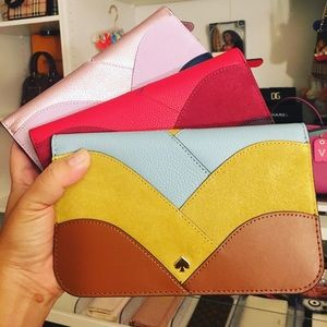 💯✅Authentic Kate Spade Nadine Patchwork wallet